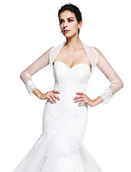 Women's Wrap Shrugs Tulle Wedding Party/Evening Appliques