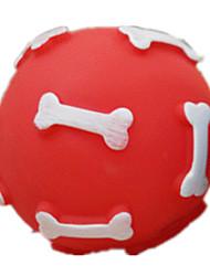 Dog Pet Toys Ball Squeak / Squeaking Random Color Rubber