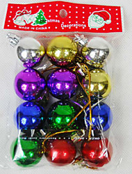 12Pcs Electroplating Christmas Ball Pendant Christmas