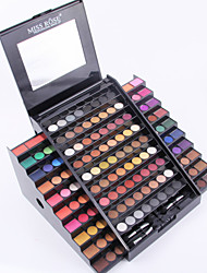 Professional 130 Colors Trapezoid Eyeshadow Palette Shimmer Eye Shadow Matte Makeup Kit Women Cosmetic Makeup Palette Miss Rose