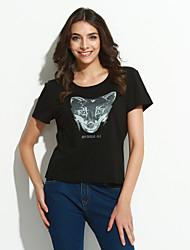 Damen Druck Boho Festtage T-shirt,Rundhalsausschnitt Sommer Kurzarm Baumwolle Dünn