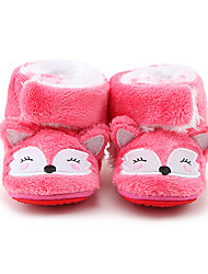 Girl's Flats Fall / Winter First Walkers / Crib Shoes Fleece Casual Coral