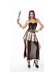 Fête / Célébration Déguisement Halloween Marron Couleur Pleine Robe / Pantalon / Manche / Coiffure Halloween / Noël / Carnaval Féminin