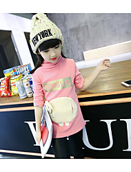 Girl Casual/Daily Print Blouse,Cotton Winter Long Sleeve