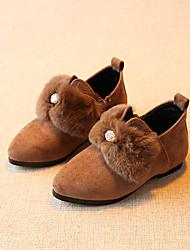 Girl's Loafers & Slip-Ons Comfort Fleece Casual Black Coffee