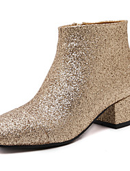 Damen-Stiefel-Büro / Kleid / Lässig-Stoff-Blockabsatz-Others-Gold