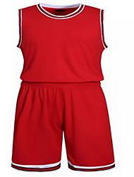 Толстовка Верхняя часть(Красный Чёрный) -Муж.-Баскетбол Бег-Короткие рукава