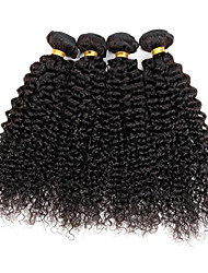 4 bundles Brazilian Kinky Curly Human Hair Weave Extensions 400g Full Head Set 8inch-28inch