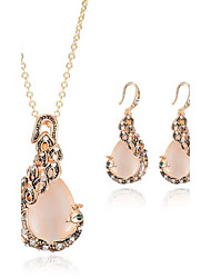 Jewelry 1 Necklace 1 Pair of Earrings Non Stone Daily Casual Gemstone & Crystal 1set Women As Per Picture Wedding Gifts
