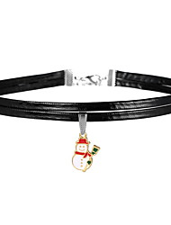 Women's Couple's Choker Necklaces Alloy Jewelry Bohemian Chrismas Leaf Red/White White/Green Assorted Color Light Green JewelryChristmas