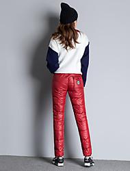 signent 2016 nouvelle hiver extérieure porter vers le bas des pantalons cane plume un pantalon slim exterieurs pantalons chauds grandes