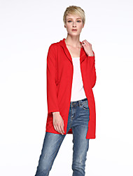 Women's Going out Street chic Fall Blazer,Solid Hooded Long Sleeve Pink / Red / Black / Gray /