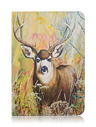 SZKINSTON Jungle Deer For Shockproof / with Stand / Auto Sleep/Wake / Magnetic / Pattern Case Full Body Case PU Leather iPad mini 1/2/3/4