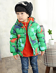 Boy's Casual/Daily Print Suit & BlazerCotton Winter Black / Green