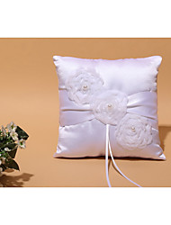 White 1 Ribbons Faux Pearl Petals Satin