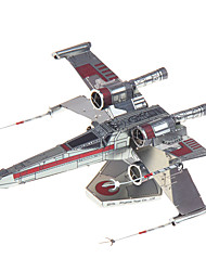3D Puzzles For Gift  Building Blocks Model & Building Toy Fighter Metal 14 Years & Up Silver Toys
