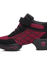 Sapatos de Dança(Vermelho / Fúcsia) -Feminino-Não Personalizável-Moderna
