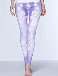 Yoga Pants Bottoms Compression High High Elasticity Sports Wear Purple Women's Sports Yoga