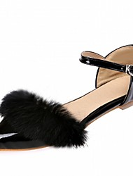 Women's Flats Spring Summer Fall Comfort Novelty Patent Leather Leatherette Fur Wedding Office & Career Dress Casual Party & EveningFlat
