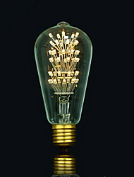 bofa ST64 conduit 3w edison antique lampe boule de soie bulle (85v-265v)
