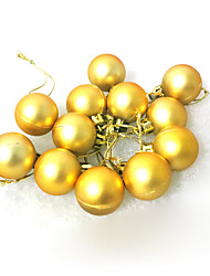 Christmas Decorations / Christmas Party Supplies Holiday Supplies Spherical Plastic Gold Above 3