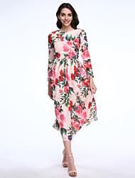 mulheres maxlindy de sair / partido / cocktail / feriado do vintage / street chique vestido de swing / sofisticado floral