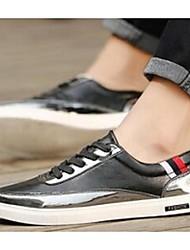 Femme-Décontracté-Noir / Argent / OrConfort-Sneakers-Microfibre
