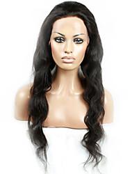 10-28inch naturel noir en stock perruque de cheveux humains vague de corps 130% de la densité de la dentelle brésilien perruque avant