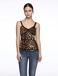 Women's New Style Leopard Print Sexy Strap Waistcoat