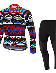 WOLFKEI Spring/Summer/Autumn Long Sleeve Cycling JerseyLong Tights Ropa Ciclismo Cycling Clothing Suits #WK81