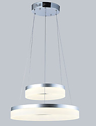 Modern LED Pendant Lights Ceiling Chandeliers Lamps Lighting Fixtures with 2ring D2040CM 27W CE FCC ROHS