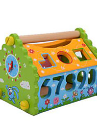 Building Blocks / Educational Toy For Gift  Building Blocks Leisure Hobby Square / House Wood 2 to 4 Years Rainbow Toys