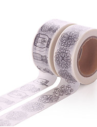 2PCS DIY Decorative Tape Masking Adhesive Tape Scrapbooking Diary Wall Decorative stickers 10M