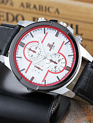 Men's Dress Watch Fashion Watch Wrist watch Quartz PU Band Cool Casual White Brand