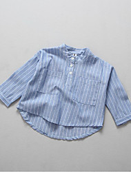 Girl Casual/Daily Solid Shirt,Cotton Spring Fall Long Sleeve