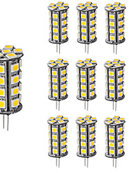Diammable LED Bulb Lighting G4 30 LEDs 5050 12V DC Warm/Cool White for Chandelier Boat (10 Pieces)