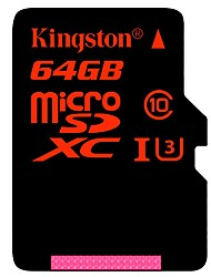 Kingston 64GB Micro-SD-Karte TF-Karte Speicherkarte UHS-I U3 Class10