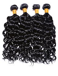 Человека ткет Волосы Бразильские волосы Волнистые 4 предмета волосы ткет