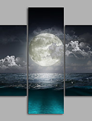 Canvas Set / Unframed Canvas Print Landscape Moon ModernThree Panels Canvas Any Shape Print Wall Decor For Home Decoration