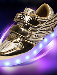 Unisex Athletic Shoes Spring Summer Fall Winter Comfort Novelty Light Up Shoes PU Outdoor Casual Athletic Translucent HeelLace-up Magic