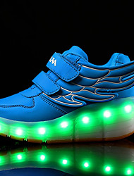 Kid Boy Girl Wheely's Roller Skate Shoes / Ultra-light Single Wheel Skating LED Light Wings Shoes / Athletic / Casual LED Shoes