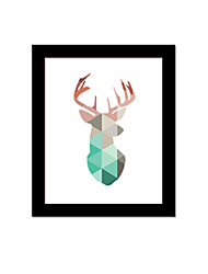 Unframed Canvas Print Abstract Modern / European Style Reindeer Pattern Wall Decor For Home Decoration