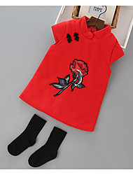 Girl's Casual/Daily Floral Dress,Rayon Winter Spring Fall Sleeveless