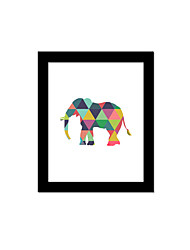 Unframed Canvas Print Abstract Modern / European Style Elephant Pattern Wall Decor For Home Decoration