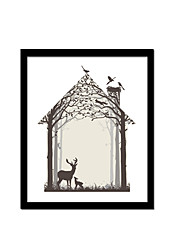 Unframed Canvas Print Abstract Modern / European Style Elk Pattern Wall Decor For Home Decoration