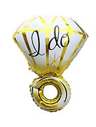 Ballons Urlaubszubehör Diamant Aluminium Gold Für Jungen Für Mädchen 5 bis 7 Jahre