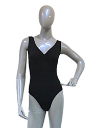 Cotton/Lycra Basic Tank Body Suit with V Gathered Front Leotard More Colors for Girls and Ladies