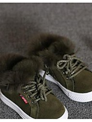 Girl's Athletic Shoes Comfort Suede Casual Black Green