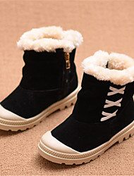 Girls' Boots Comfort Snow Boots Microfibre Winter Casual Comfort Snow Boots Flat Heel Black Ruby Blushing Pink Flat