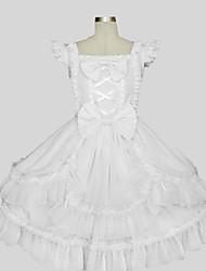 Accesorios Amaloli Princesa Cosplay Vestido  de Lolita Un Color Sin Mangas Hasta la Rodilla Vestido Para Algodón